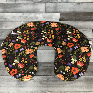 Boppy Nursing Pillow Slipcover, Black Floral