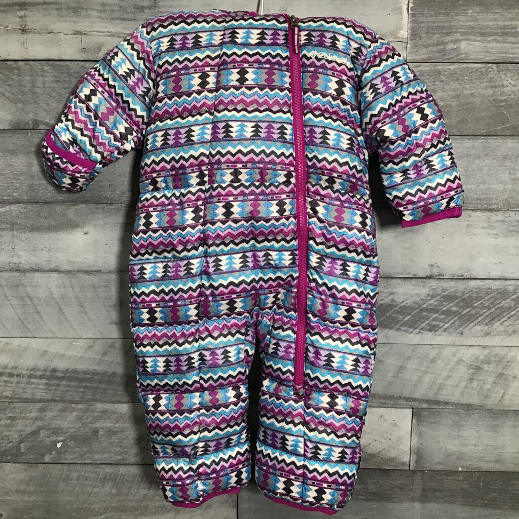 Columbia Frosty Freeze Bunting in Bright Plum Zig sz 6-12m