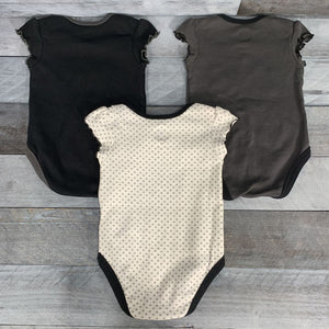 3Pk NHL Girls' Bodysuits Golden Knights sz 6/9m