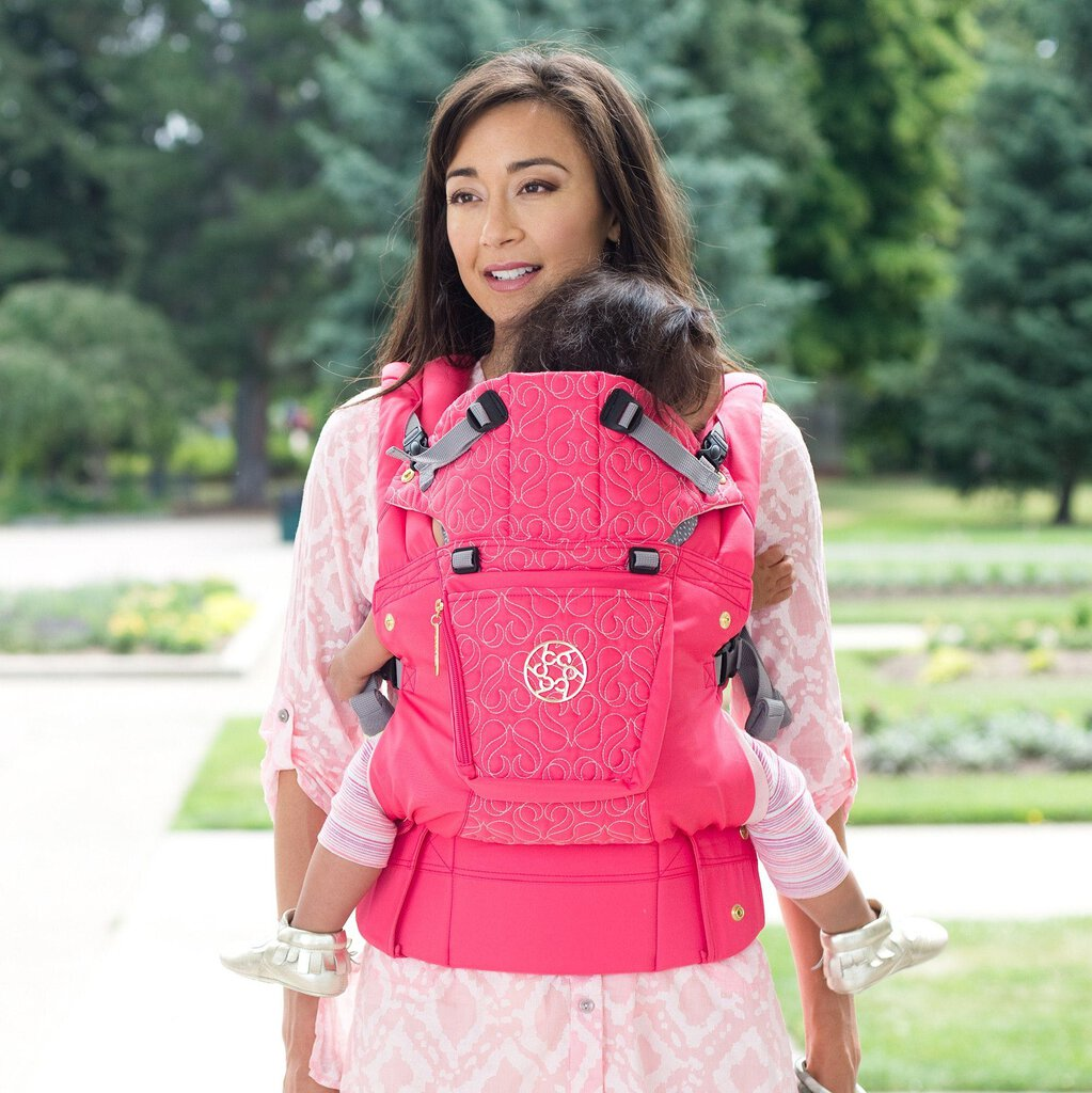 NEW LILLEbaby Complete Embossed Luxe Carrier in Pink Ribbon