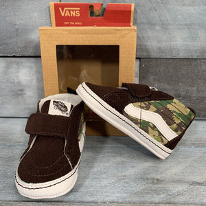 Vans SK8-HI Animal Camo Crib Shoes sz 4c