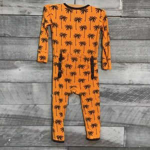 KicKee Pants Coverall in Apricot Palm Trees sz 9-12m