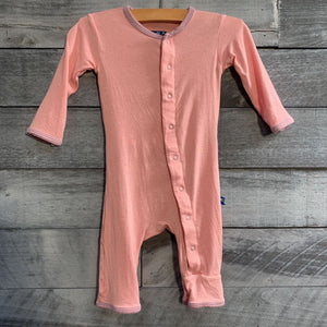KicKee Pants Coverall in Pink Dino sz 0-3m