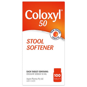 Coloxyl 50mg - 100 Tablets