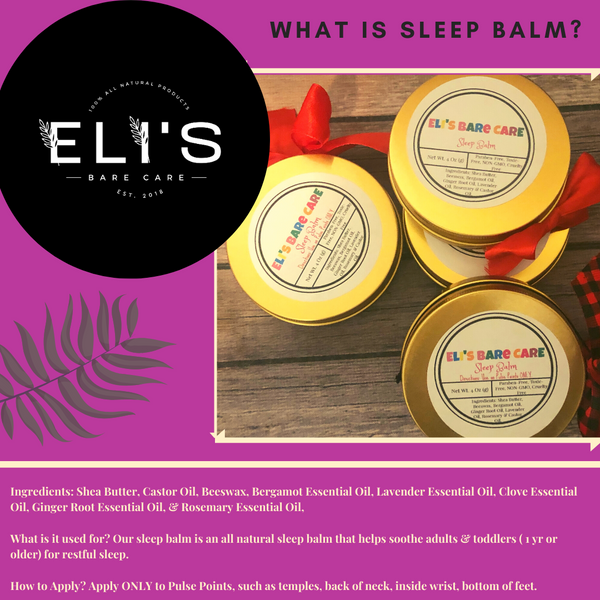 ALL NATURAL SLEEP BALM