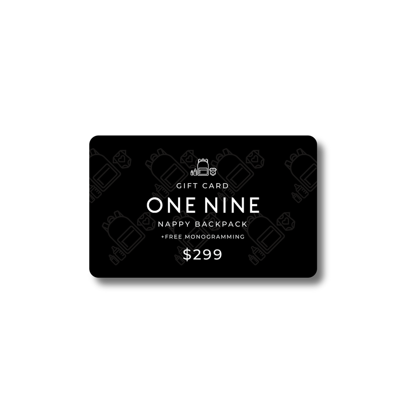 ONE NINE Nappy Backpack Gift Card