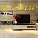 12pcs 3D Acrylic Removable Wall Sticker For Living Room Bedroom TV Background Wall Decal Modern Art DIY Home Decor - Kalsord