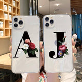 Custom Name Initials/Alphabet Letter Phone Case/Cover For iPhone