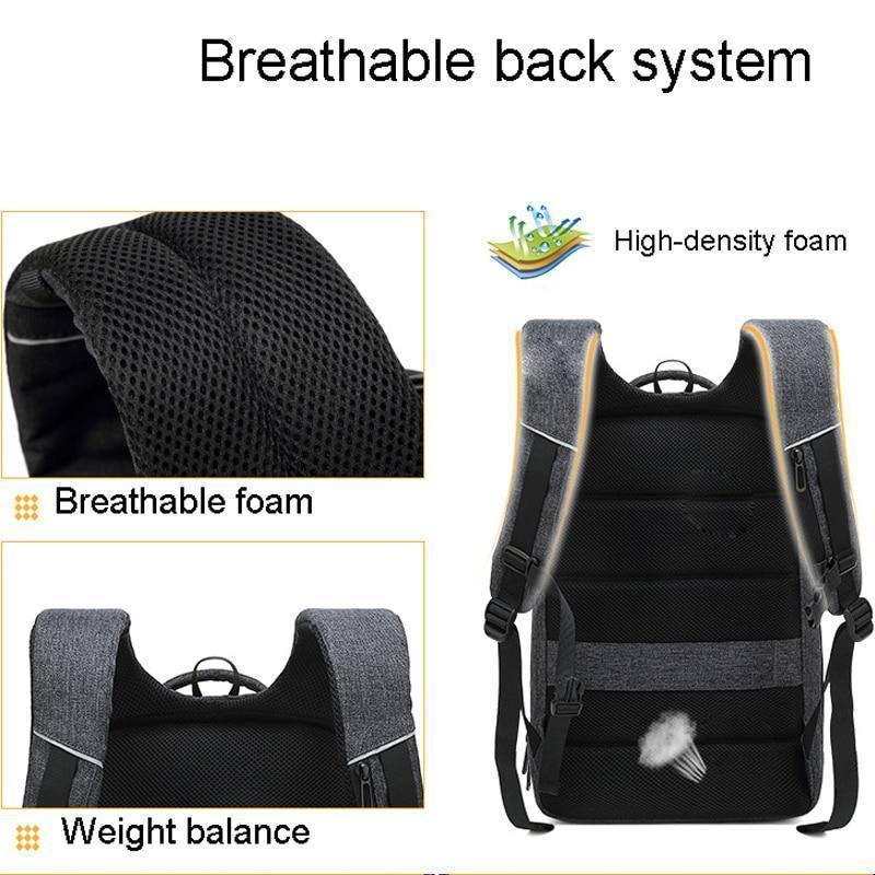 Anti Theft Water Resistent Mochila Business Travel 15.6 inch Laptop Backpack for College School Travel Work - Kalsord