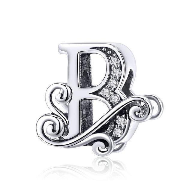 Women's Custom Alphabets | Name A to Z 925 Sterling Silver Jewelry - Kalsord