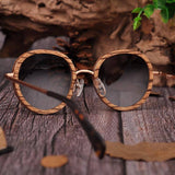 Women's Oval UV400 Polarized Wood Sunglasses in Wooden Gift Boxsunglasses - Kalsord