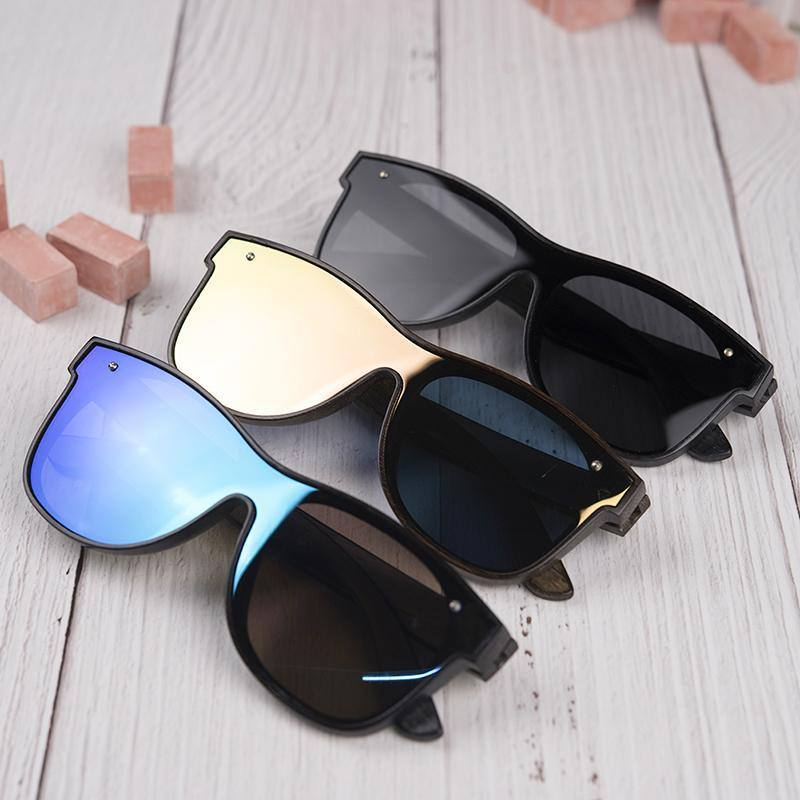 Wooden Square Polarized UV400 Sunglasses | Driving Eye wear w/ Gift Boxsunglasses - Kalsord