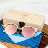 Women's Wooden Oval Polarized Sunglasses W/ Wooden Gift Boxsunglasses - Kalsord