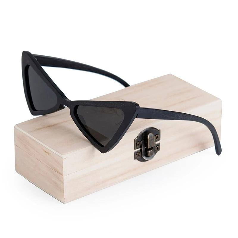 Women's Cat Eye Wooden UV400 Polarized Sunglasses with Wooden Gift Boxsunglasses - Kalsord