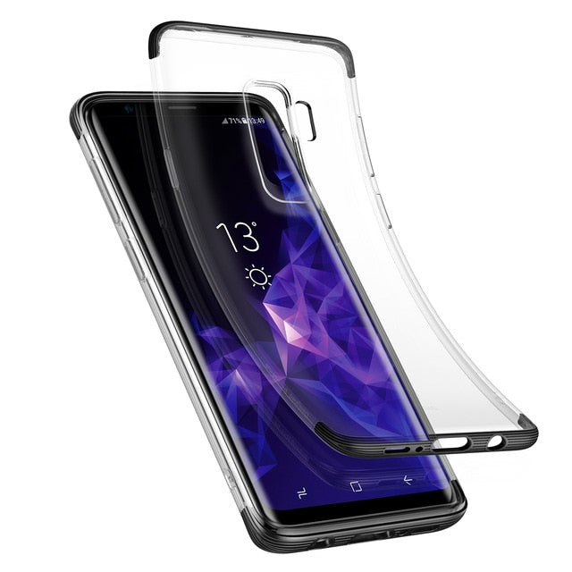 Transparent Clear Armor Back Case For Samsung Galaxy S9 S9 PlusCases - Kalsord