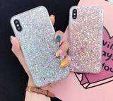 Glittering Sequin Silicone Phone Case For iPhone 11 Pro Max 7 8 6 6S Plus X XR XS Max 5 5S SE 11