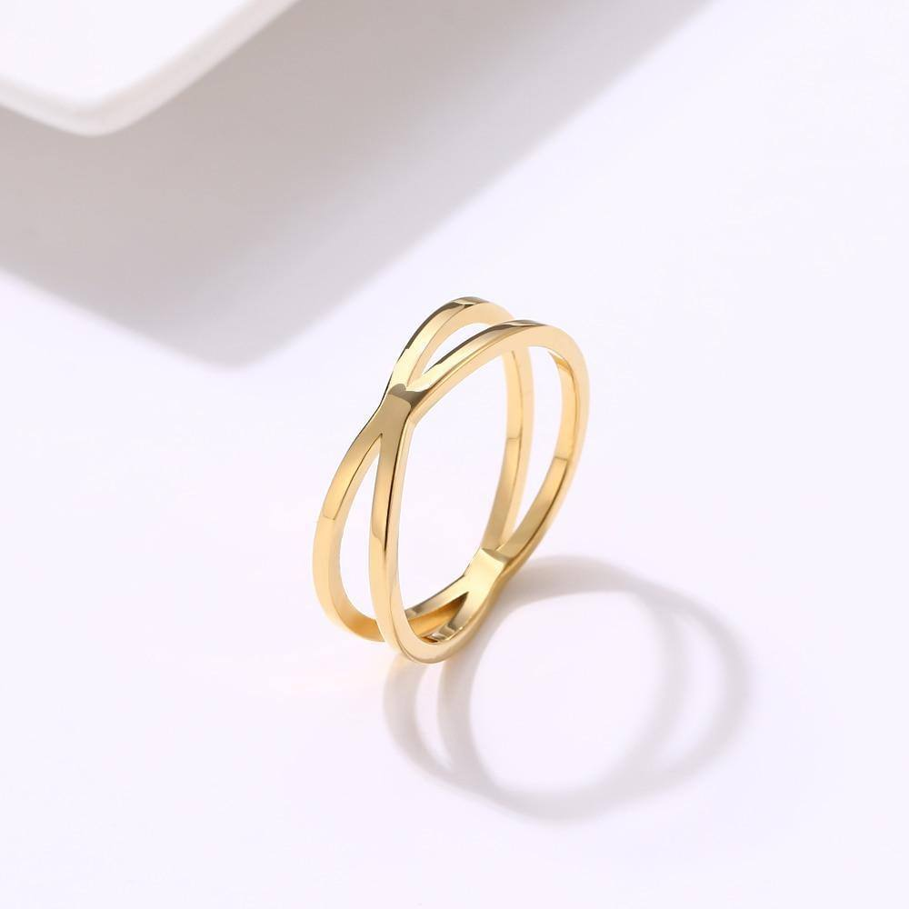Trendy Bohemian Vintage Cross Gold/Silver Ring for Women - Kalsord