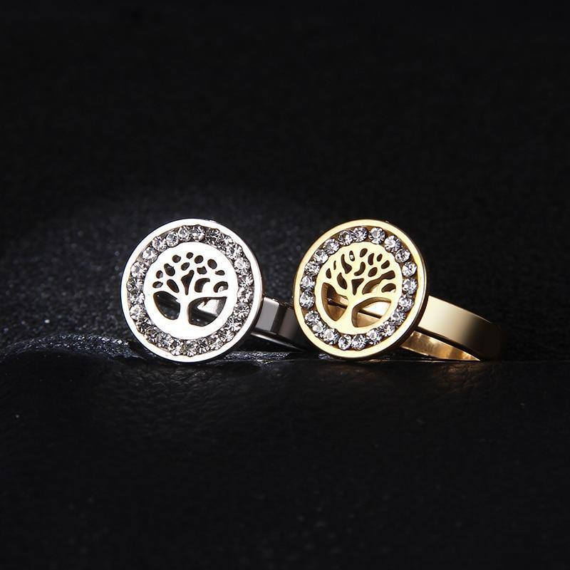 Custom/Personalized Crystal Gem Tree Shaped Ring For Women - Kalsord