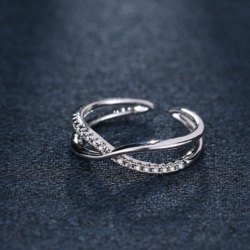 Silver Plated Adjustable Ring For Womenrings - Kalsord