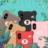 3D Soft Silicone Bear Phone Case for iPhone X XS MAX XR 6 6s 7 8 Pluscases - Kalsord