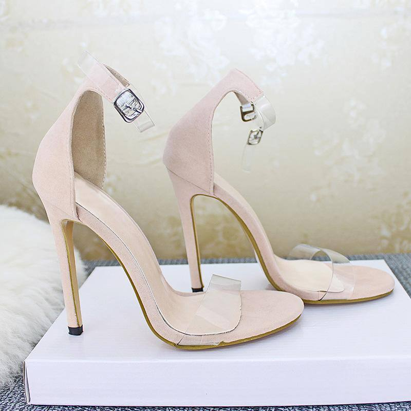 Classic Sandals Women Shoes High Heels PVC Transparent | Clear Peep Toe Pumps Ladies Stiletto Sandale Femme - Kalsord