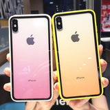 Colorful Gradient Transparent Phone Case For iPhone XS Max XR X XS 6 6S 7 8 Pluscases - Kalsord