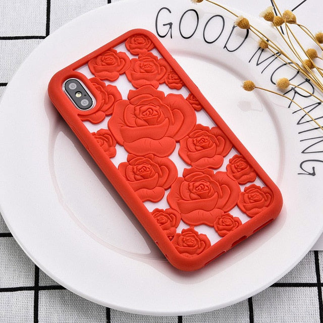 Elegant Cute Floral Back Cover Case For iPhone X 8 7 6 6S Pluscases - Kalsord