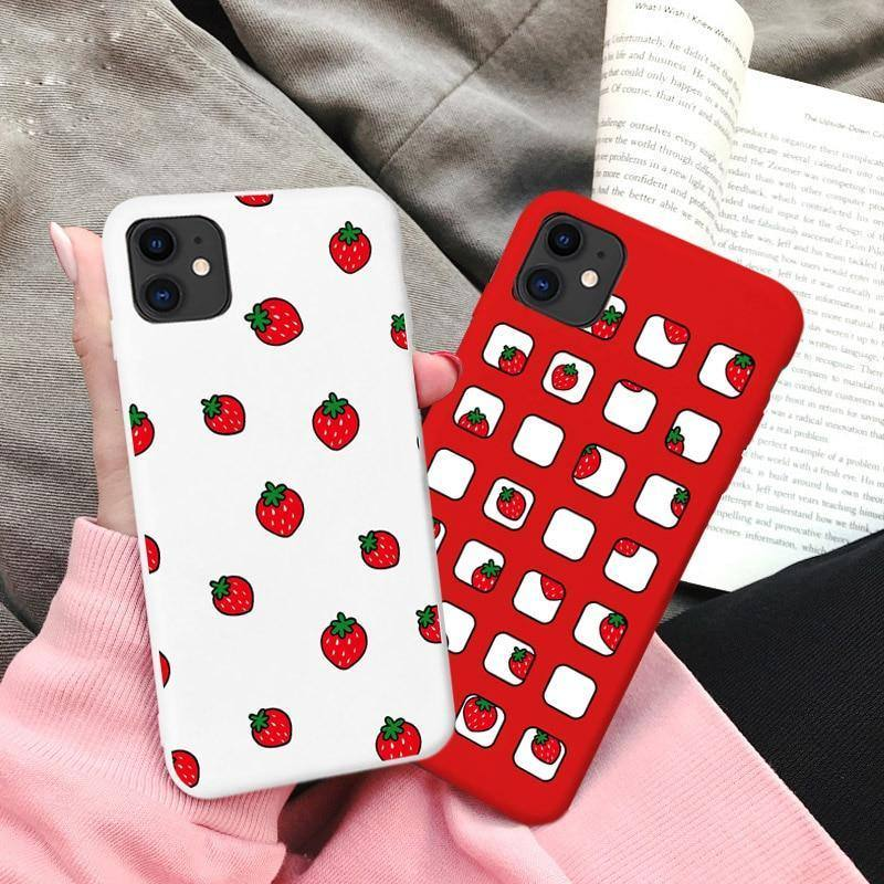 Cute Red White Summer Fruit Strawberry Phone Case/Cover iPhone
