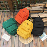 Waterproof Nylon Backpack/Bag for Women/Girls For Travel/School/College- Black Green Yellow Orange - Kalsord