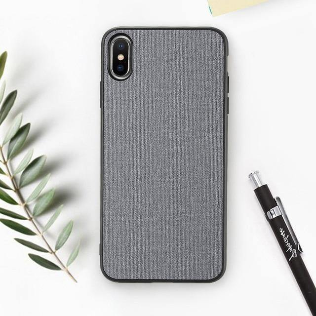 Classic Cloth Textured Case For iPhone XS Max XR X 7 8 Plus 6 6sCases - Kalsord
