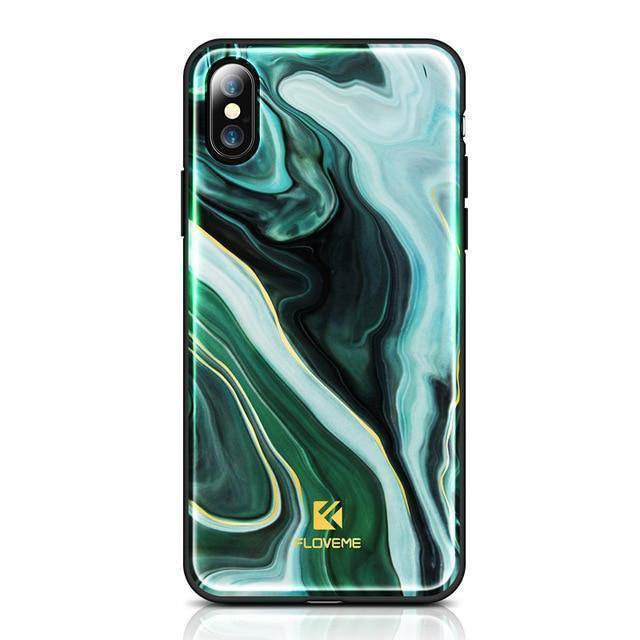 Agate Pattern Case For iPhone X 8 7 7 PlusCases - Kalsord