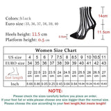 Stripes Transparent | Clear Boots Sandals Thin Pointed Toe High Heels Shoe - Kalsord
