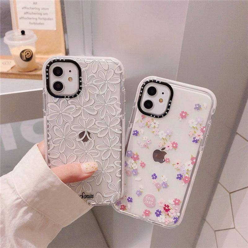 Transparent Flower Silicone Phone Case For iPhone 11 11 Pro Max 8 7 Plus X XS Max XR