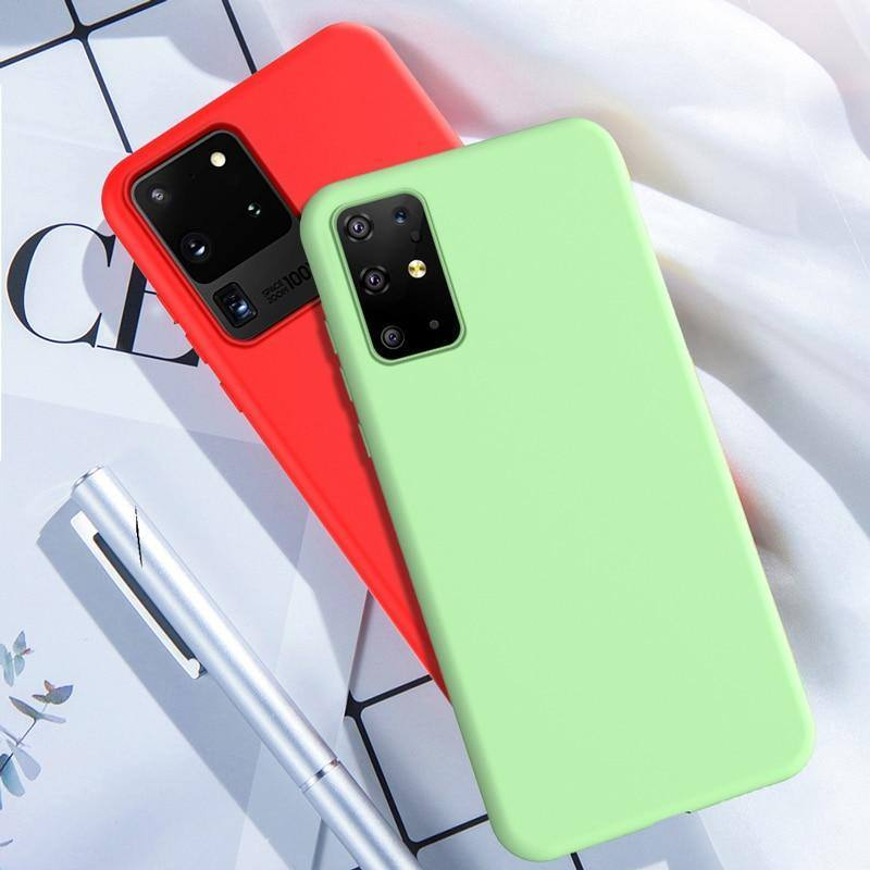 Silicone Phone Cover/Case For Samsung Galaxy S20 Plus A51 A71 A50 S10 5G S9 S8 Plus Note 8 9 10cases - Kalsord