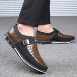 Men's Genuine Leather Breathable Slip On Moccasins | Loafers - Kalsord