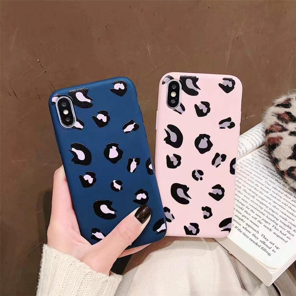 Leopard Print Phone Case For iPhone XS Max XR X 7 6 6s 8 Pluscases - Kalsord