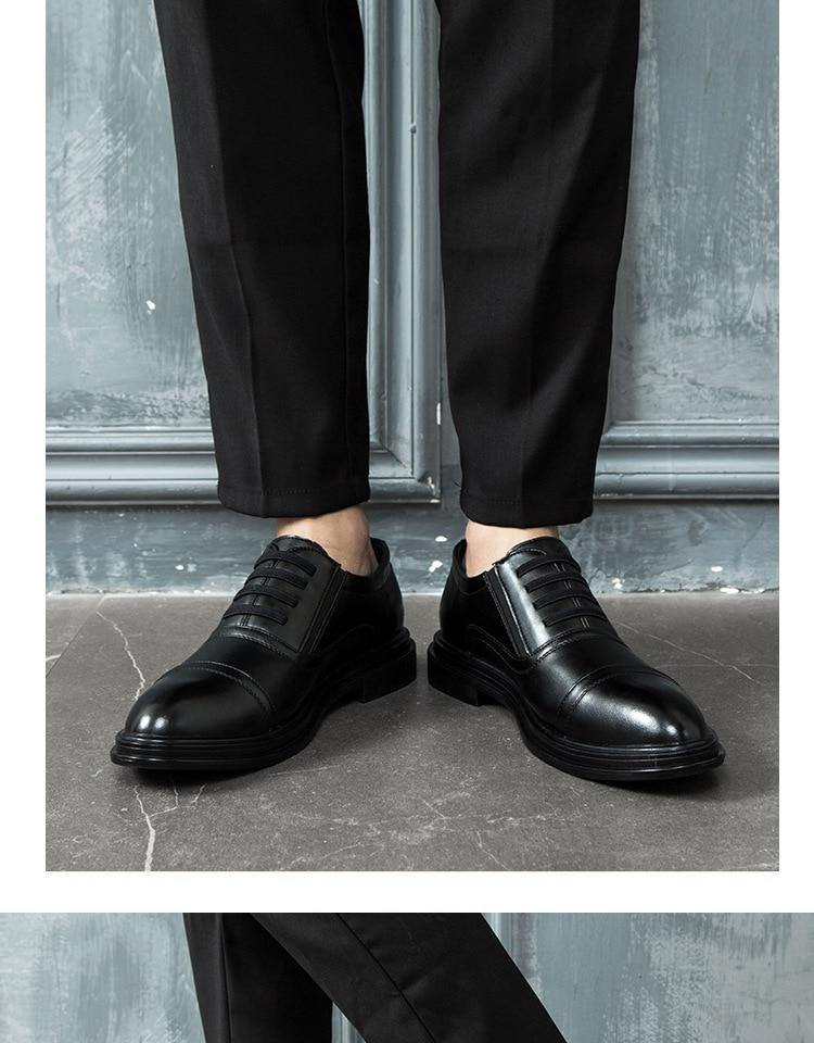 Men's Black Slip-On Dress Shoe - Kalsord