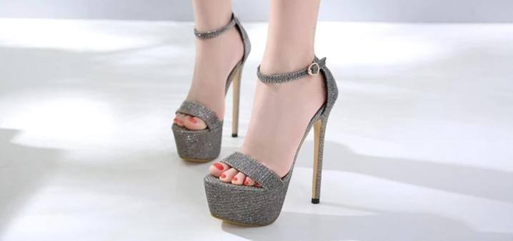 Sequin Thick Platform High Heels Sandals | Pumps - Kalsord