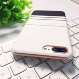 Simple Stripe Grid Phone Case For iPhone X 8 7 Plus XR XS Max 6 6S PlusCases - Kalsord