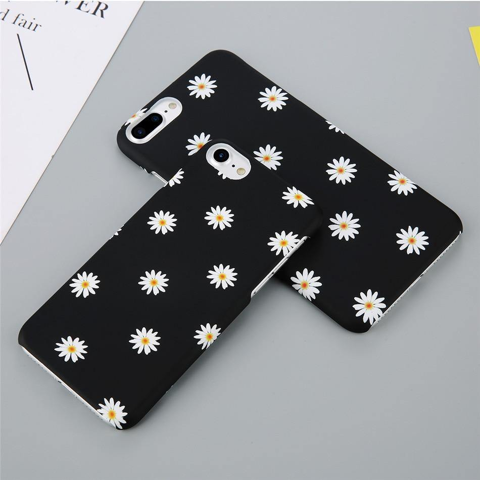 Floral Daisy Phone Cover For iPhone 6 7 8 Plus X XR XS Max 6 6S PlusCases - Kalsord