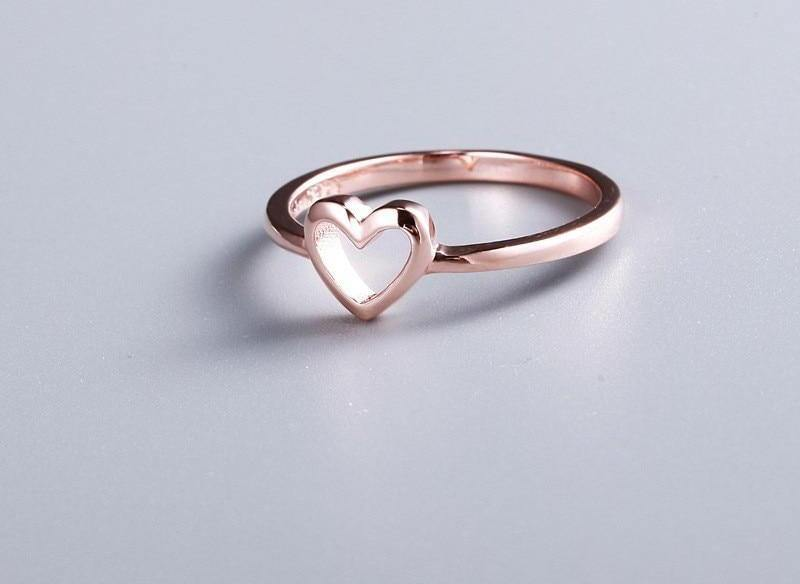 Women's Rose Gold Color Heart Shaped RingRings - Kalsord
