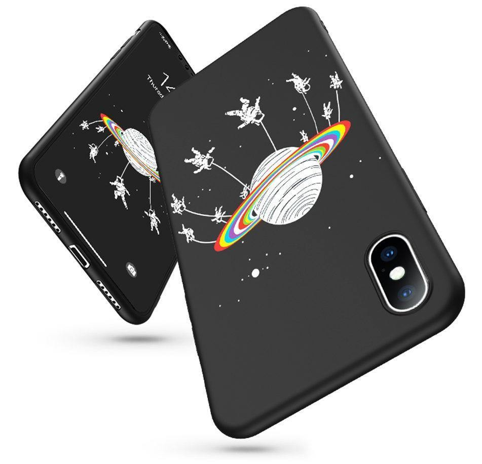 Funny Galaxy | Moon | Stars Phone Case For iPhone X XR XS Max 7 8 6 6s Plus 5 5s SECases - Kalsord