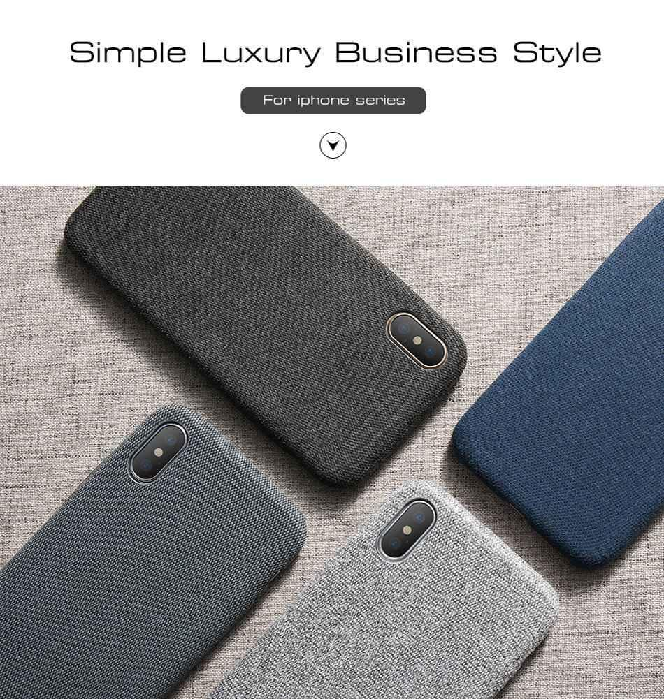 Luxury Cloth Texture TPU Silicone Case For iPhone 7 6 X XS MAX  8 6 6s 7 plusCases - Kalsord