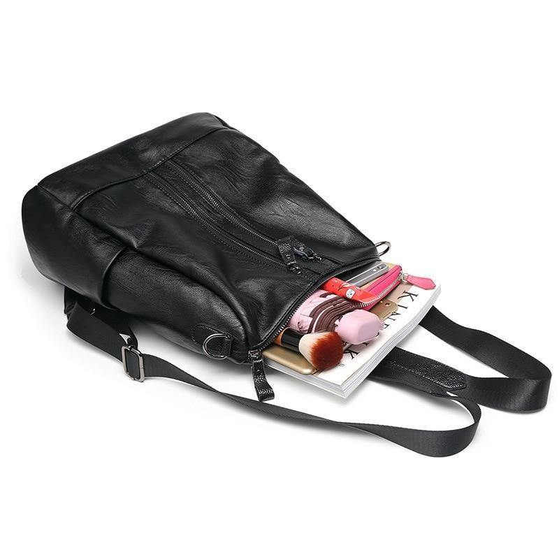 Women's Vintage PU Leather Backpackbags - Kalsord