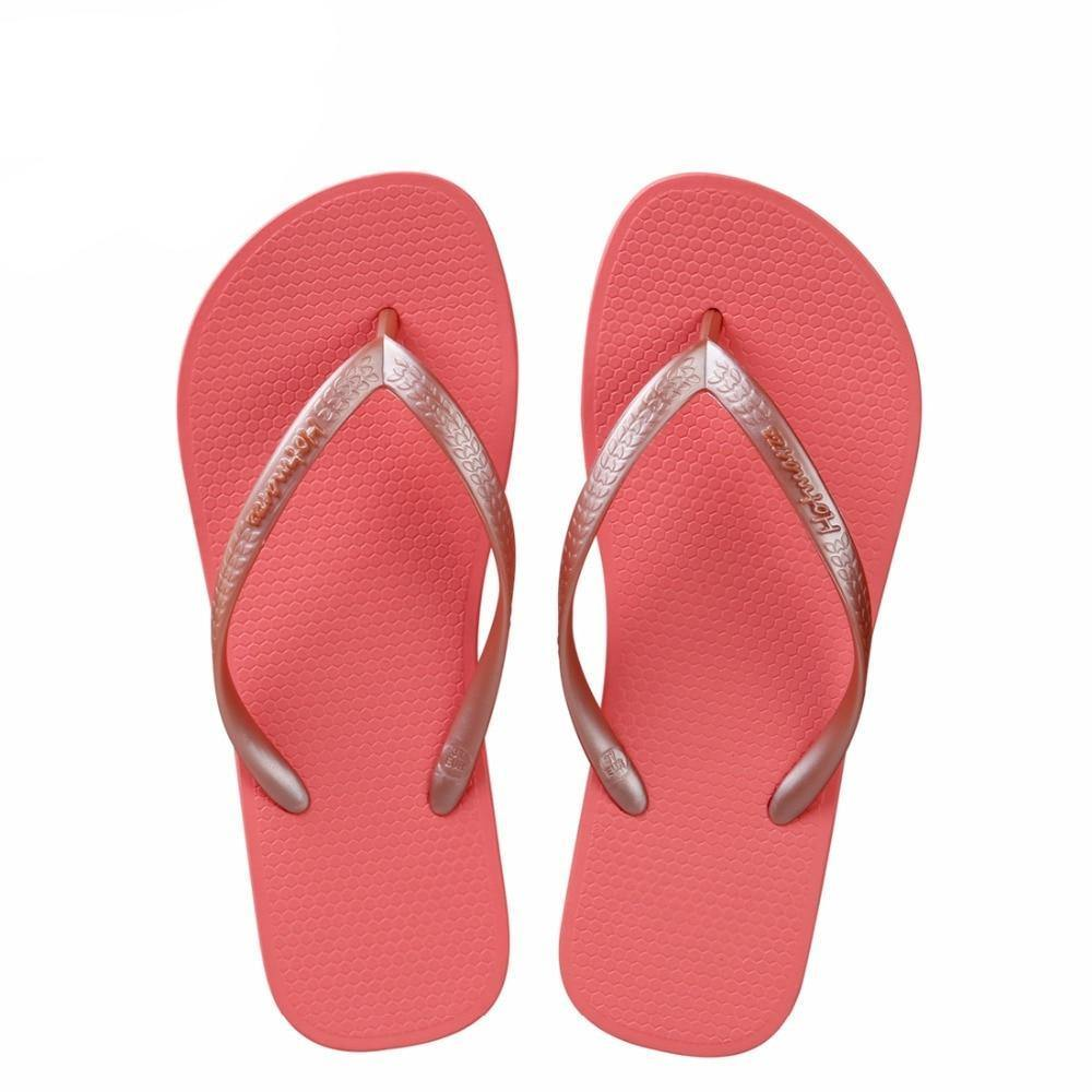 Women's Summer Red Flip Flopsandals - Kalsord