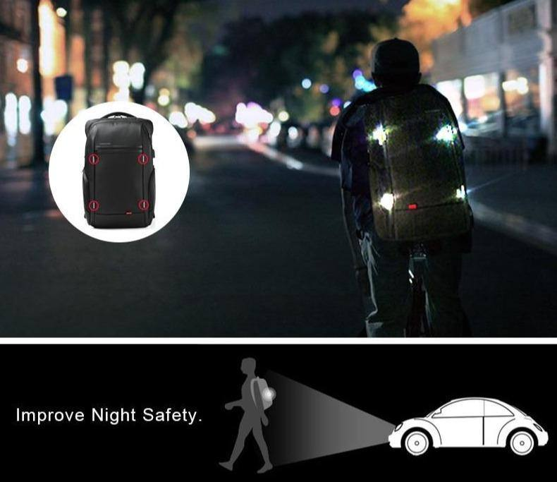 15 inch Laptop Backpacks USB Charging Anti Theft Backpack Men Travel/Business Water Repellent Backpack