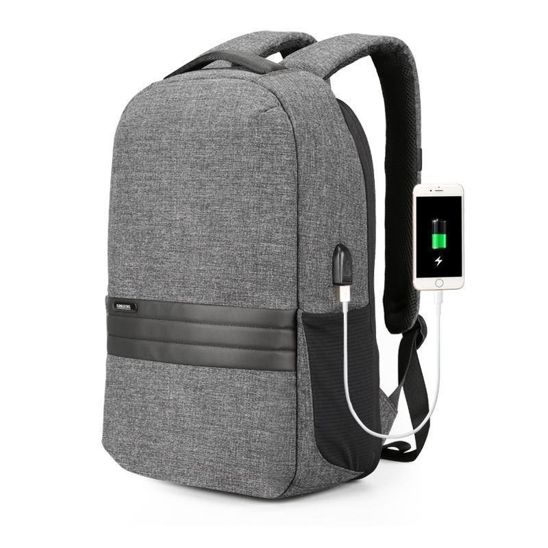 15 inch Laptop Backpack w/ USB Charging | Anti Theft Men's Travel/School Waterproof Backpack
