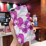 Retro Floral Art  | Leaf Phone Case For iPhone XS Max XR Xcases - Kalsord