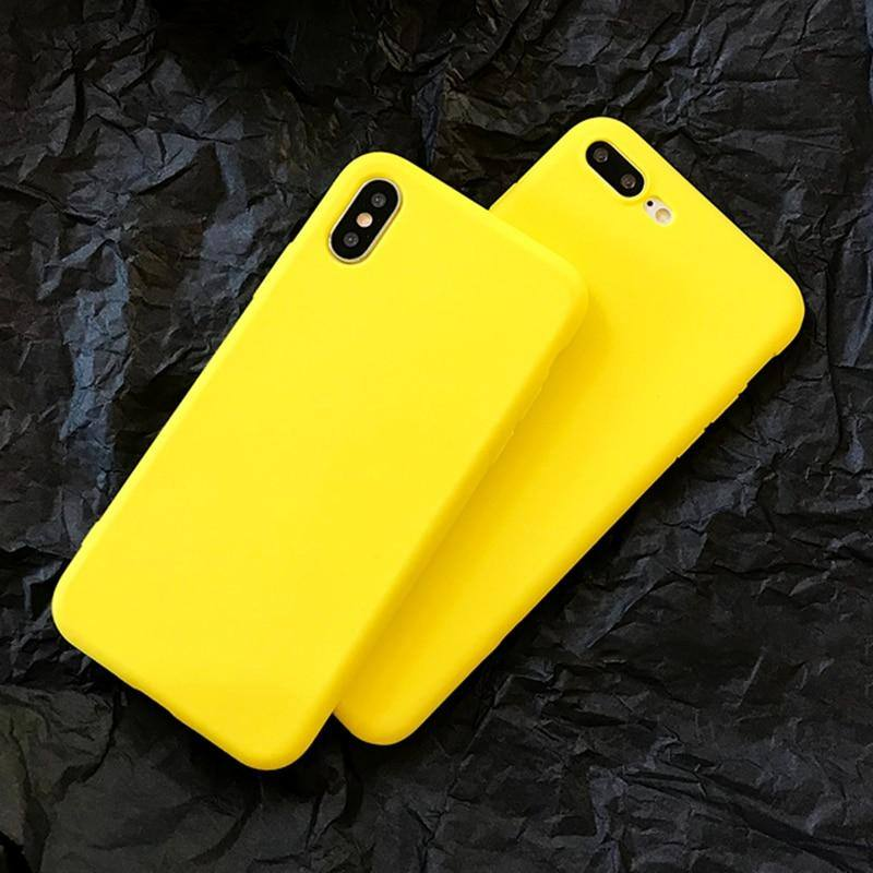 Lemon Yellow Case For iPhone 6 6S 7 8 Plus X XS XR XS MaxCases - Kalsord