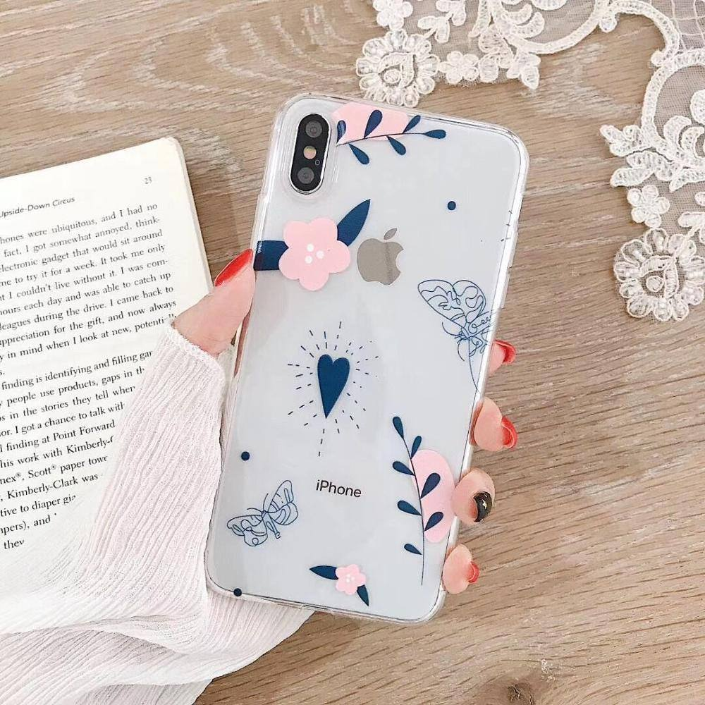 Cute Clear Abstract Phone Case For iPhone XR XS Max 6 6S 7 8 Plus Xcases - Kalsord